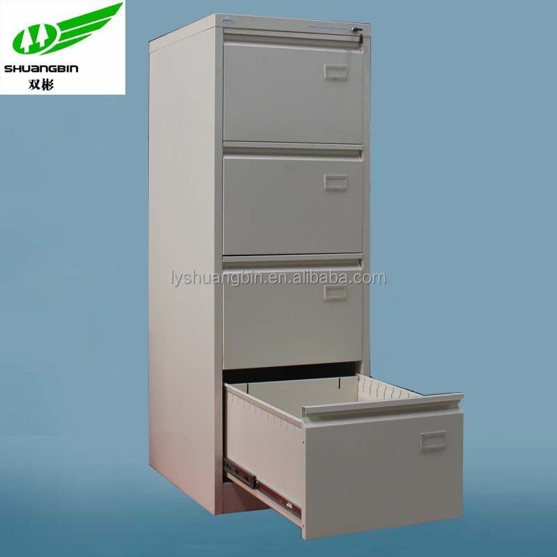 Vertical 4 drawer metal wall mounted office cabinets