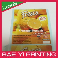 Label printing plain paper use orange juice powder soft drink sticker