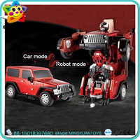 Christmas Gift cheap toy car control remote deformation robot with price
