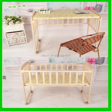 Low price new design baby bed with bedding set