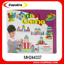 Educational wooden toys wooden building blocks Toys, creative building block toys