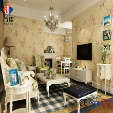 3d Embossed waterproof vinyl korean wallpaper