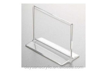 clear acrylic sign holder with business card pocket