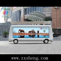 full color led outdoor display on truck