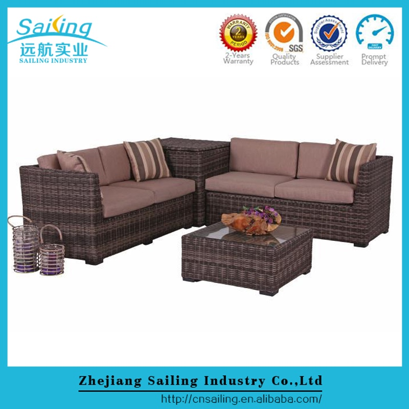 Sailing New Design All Weather Cheap Modern Synthetic Rattan Bamboo Dining Coffee Table And Chair For Sale