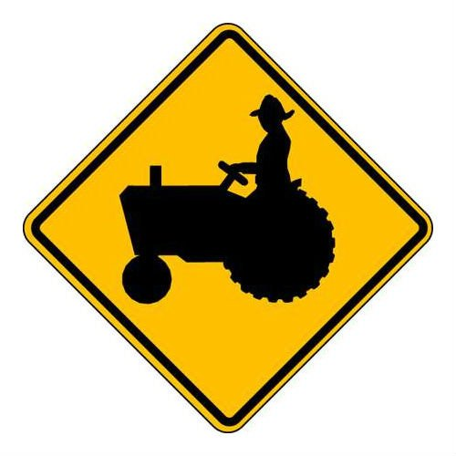 Brady 115651, Traffic Sign, Engineer Grade, FARM EQUIPMENT PICTOGRAM