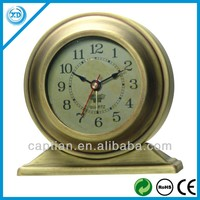 alarm hotsale antique brass table clock
