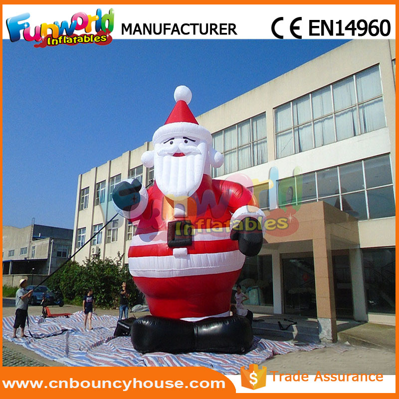 Christmas inflatable balloon sanda claus gemmy inflatables