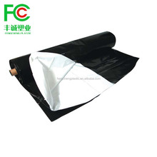 100% LDPE extrude 6mil black/white poly plastic sheeting panda film from china factory