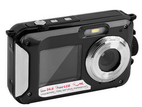2.7inch TFT Digital Camera Waterproof 24MP MAX 1080P Double Screen 16x Digital Zoom Camcorder DC998