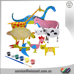 Kids Toy DIY Drawing Cardboard 3D Animal Puzzle