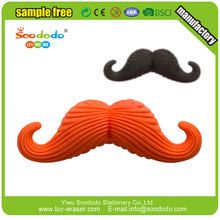 Cheap 3D Mustache Shaped Pencil Eraser Toppers
