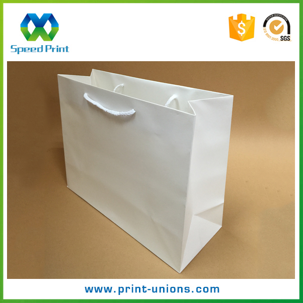 Recyled full color shopping package customized retail paper bag