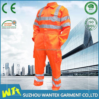 new style orange heated electrician coveralls with reflective tape