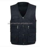 Men's outdoor spring and autumn much pockets Male vest work wear Fishing vest OEM