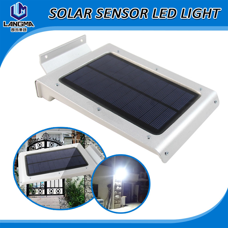 Langma Outdoor 46pcs LEDs 1380 lumens Solar Powered Panel Garden Path Wall Shed Fence Yard Light Lamp