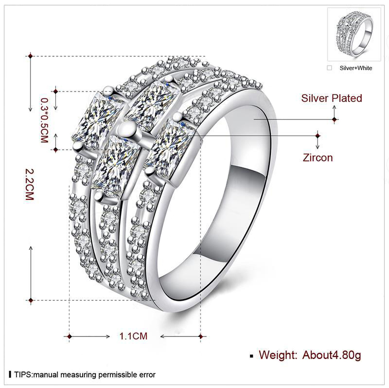 Wholesale Cool Man Diamond Ring Size U Ladies Ring Size V Silver Ring Size U