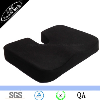 Large Orthopedic Tailbone Pillow Ultra Premium 100% Memory Foam Seat Cushion for Sciatica Back and Tailbone Pain