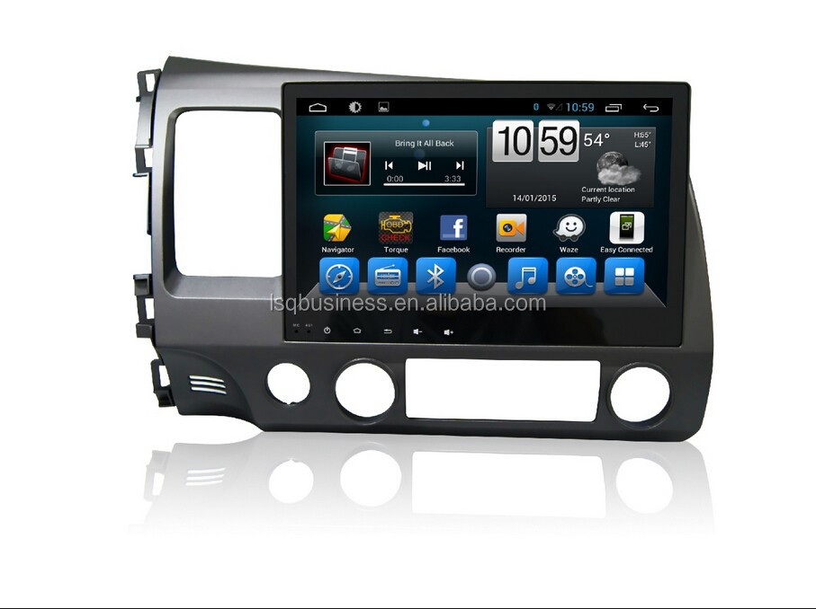 Quad Core 1024*600 Android 4.4.2/ 6.0 car dvd radio GPS navigition stereo for 2008 Civic hot selling !!!