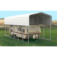 Regular roof style cheap prefab portable garage steel metal carports