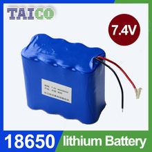 rechargeable 18650 lithium ion battery 7.4v 10000mah