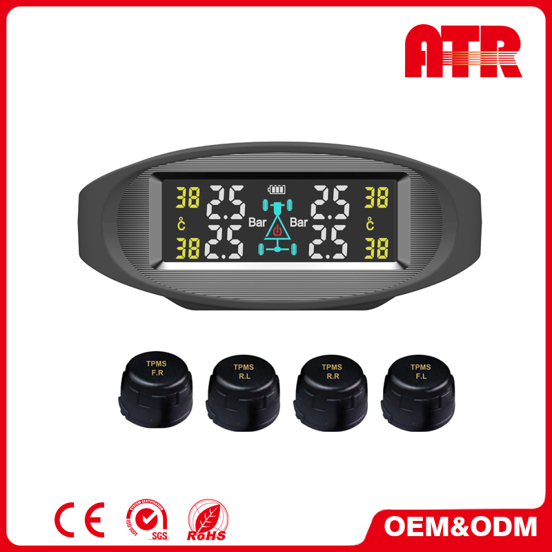 DIY installation truck tire pressure monitoring system with HD LCD display