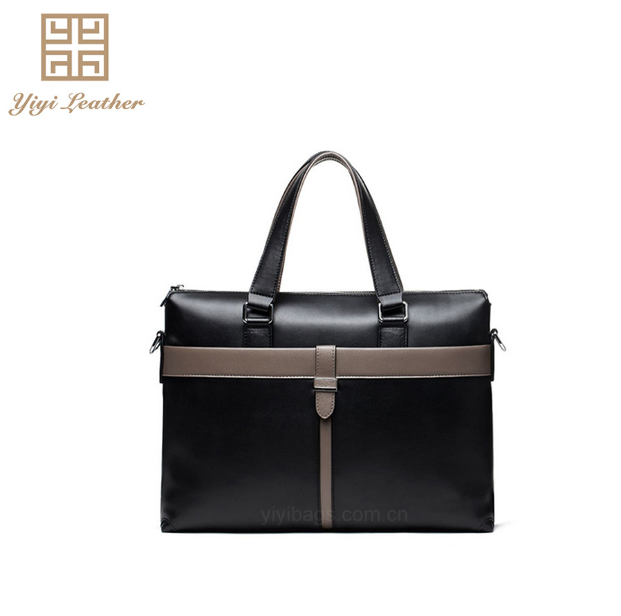 Cheap mens tote genuine leather bag lawyer and executive briefcase
