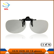2017 shenzhen factory supply wholesale plastic clip-on adult 3d glasses short sight 3d glasses for smartphone