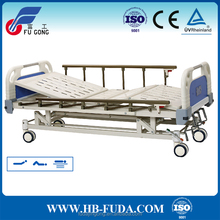 High quality up down 3 cranks manual abs icu hospital bed