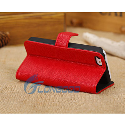 Top Quality PU Wallet Book Cover Flip Leather Case For iPhone 5 5C