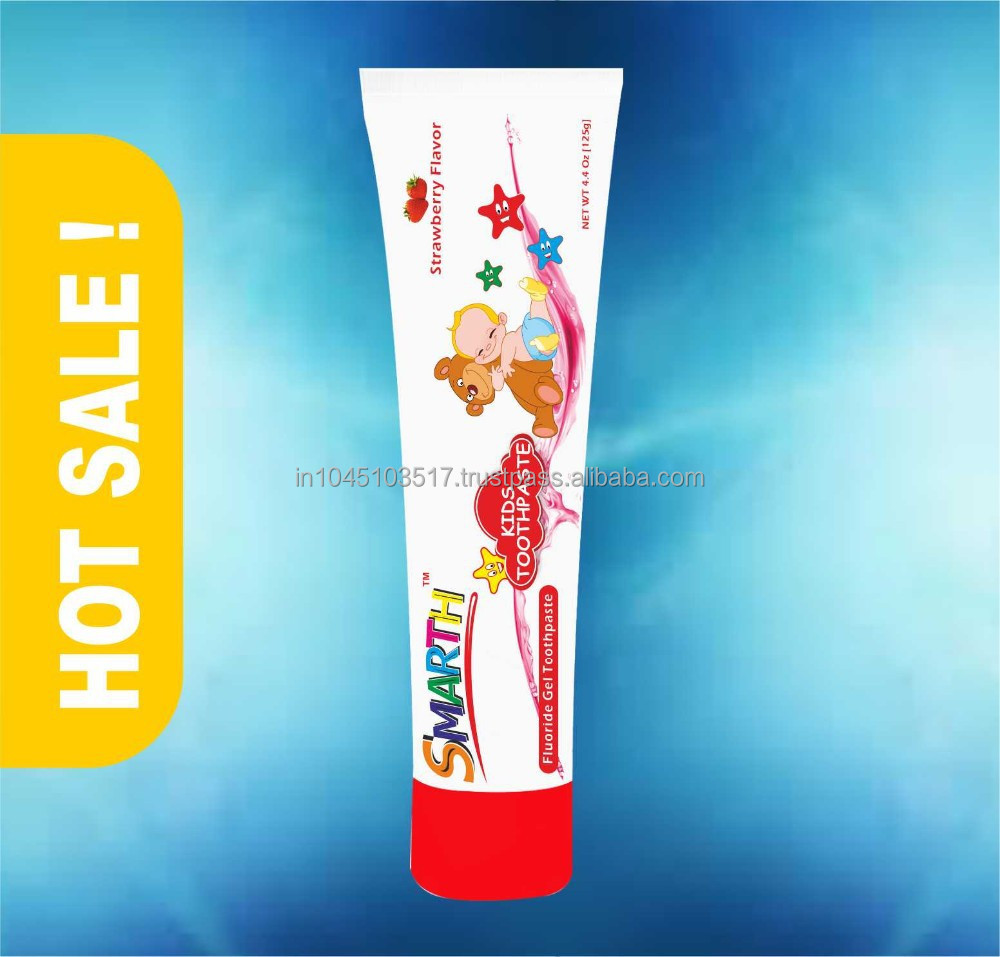 SAMARTH BABY / KIDS TOOTHPASTE WITH STRAWBERRY FLUORIDE GEL TOOTHPASTE 4.4 Oz (125 g)