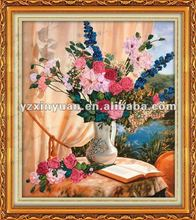 tape cross stitch sets -xianhua.046hand embroidery design,flowers ribbon embroidery stitches craft-01