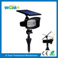 Superb 400 Lumens Solar Powered Led Spotlight/ Outdoor Flexible Wall- Mount or Stake-in-Ground Light