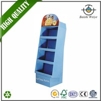 Counter Paper Cardboard Display Stands Stamping For Shampoo Advertising