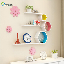Hexagon Frame Creative Partition Wall <strong>Shelf</strong> Hexagonal Ledge