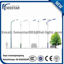 6-8m height solar power systerm street lamp post light pole with30w or 60w led lamp