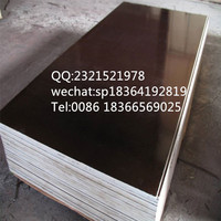 building materials 18mm black/brown film faced plywood sheet , poplar core cheap film faced plywood formwork