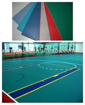 PVC Sports Floor for Tennis, Badminton, Volleyball, and Basketball