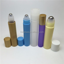 2017 hot new products Bamboo Cosmetic packaging 15ml Plastic Roll on Bottle Wholesale
