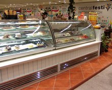 Top manufacturer high quality European standard ice cream display freezer ice cream showcase