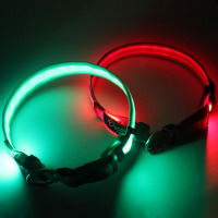 Fashionable Strong Nylon Luxury Custom LED Choker Collar Wholesale