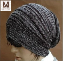 High Quality Scalable Striation Winter Adult Warmth Wool Knit Cap
