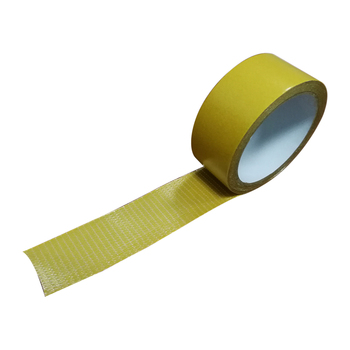 Double sided fiber adhesive tape for sealingstrip and firestrip