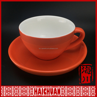 Elegant pottery coffee cup saucer with star picture