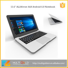 New Product Cheap ALLWinner A64 2GB RAM 32GB Android 6.0 11.6 inch Laptop Computer