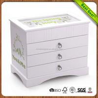 Mutual affinity wooden jewelry box handmade handmade carved wood jewelry box for women