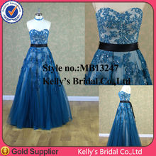 wholesale royal blue and white wedding dresses made in china