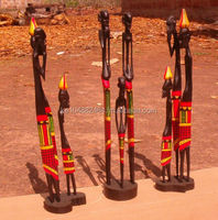 African carving of Masai statues figurines