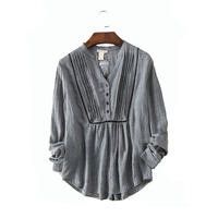 Casual Style V-neck Soft Ladies Blouse