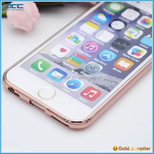 Crystal Clear Soft TPU Electroplate Frame Hybrid Case for iPhone 6s 6 Plus Phone accessories